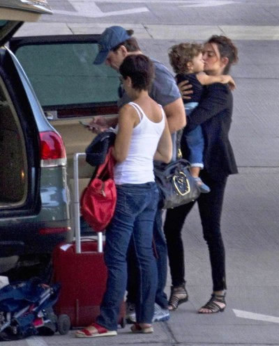 Penelope Cruz And Javier Bardem Spend Family Time With Leo