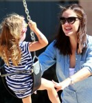 Jennifer Garner And Seraphina Affleck Have Swinging Time At The Park 0625