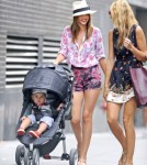 Miranda Kerr Strolls Around NYC With Flynn Bloom 0625