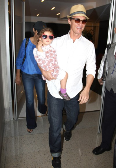 Matthew McConaughey And Family Jet Out Of Los Angeles 0605