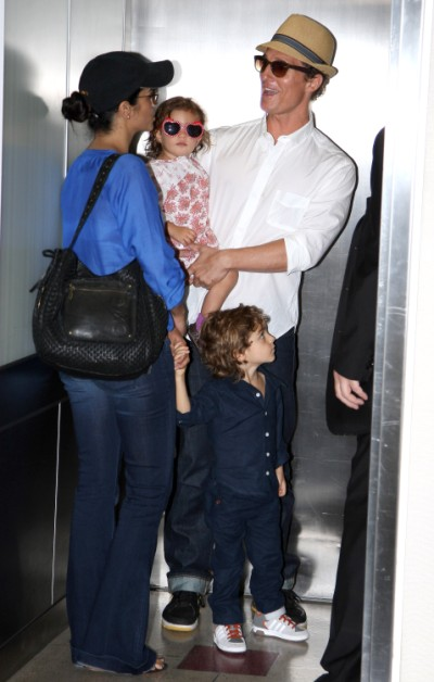 Matthew McConaughey And Family Jet Out Of Los Angeles