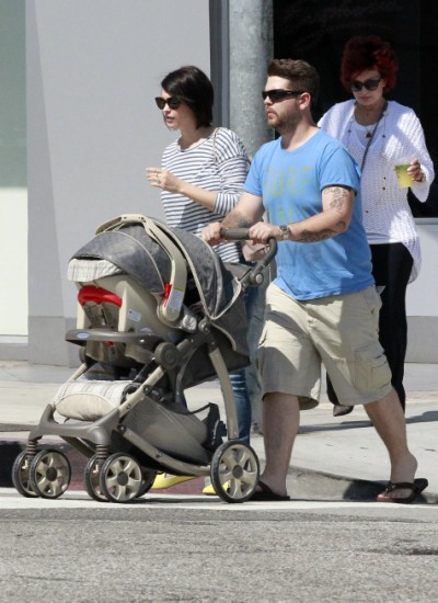 Jack Osbourne And Family Take Pearl For A Stroll