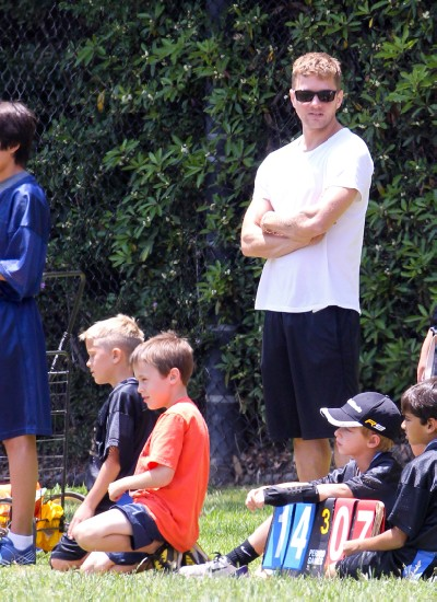 Ryan Phillippe Coaches Deacon From The Sidelines