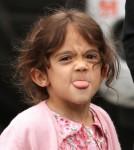 Valentina Pinault Sticks Her Tongue Out At Paparazzi 0613