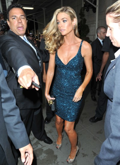 Denise Richards And Charlie Sheen Reunite With Daughter In NYC