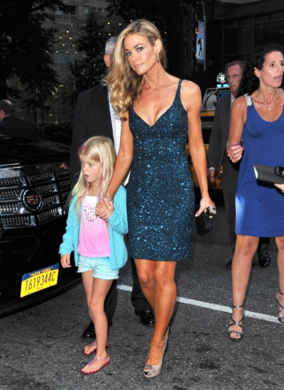 Denise Richards And Charlie Sheen Reunite With Daughter In NYC 0626
