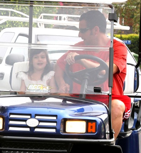 Adam Sandler Takes Sunny For A Golf Cart Ride