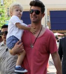 Robin Thicke Mixes Work And Pleasure With Julian 0608
