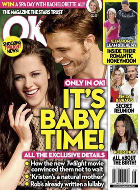 It's Baby Time For Robert Pattinson and Kristen Stewart (Photo)