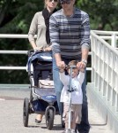 Tom Brady and Gisele Bundchen taking Benjamin to the park in Boston - June 1
