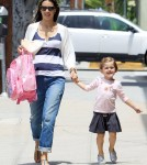 Alessandra Ambrosio picking up Anja at school in Los Angeles, CA - June 20