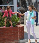 Alessandra Ambrosio out in Santa Monica with Anja -June 22.