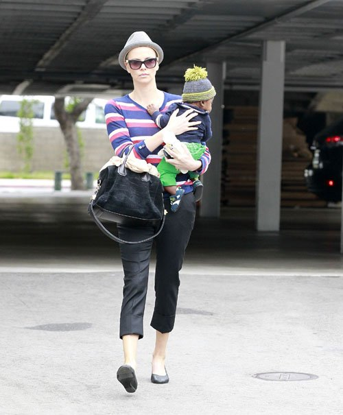 Charlize Theron Takes Jackson to thjee doctor's office in Beverly Hills, Ca – June 11