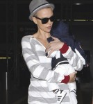 Charlize Theron and her son Jackson at LAX airport in Los Angeles, CA - June 16