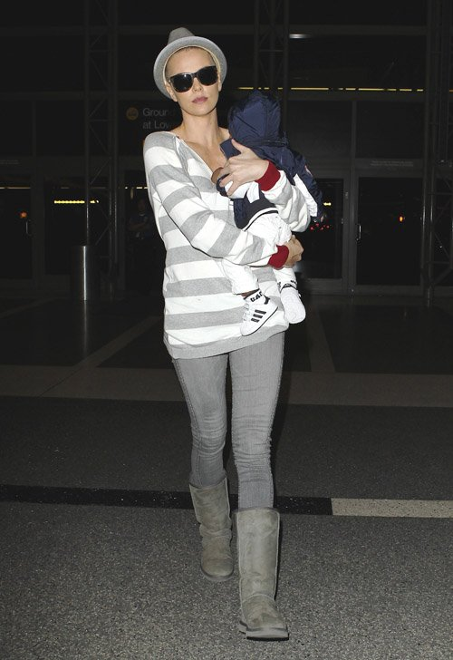 Charlize Theron and her son Jackson at LAX airport in Los Angeles, CA – June 16
