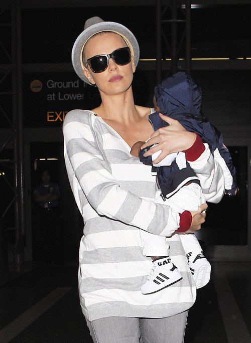 Charlize theron shaved