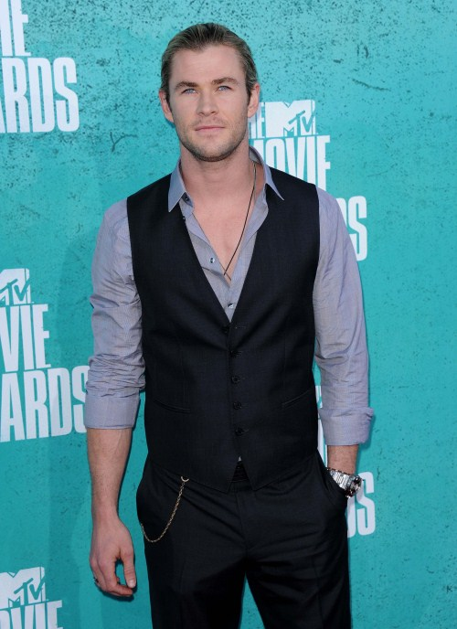 Chris Hemsworth at the MTV Movie Awards at the Universal Gibson Theatre in Los Angeles, California on June 3, 2012.