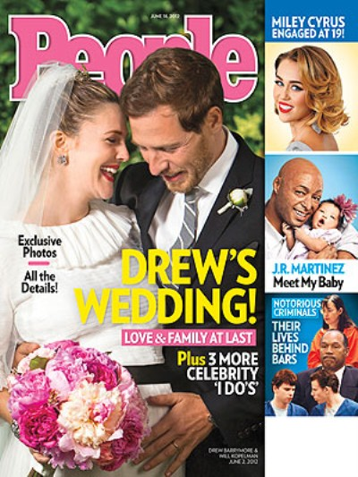 First Pics Of Pregnant Drew Barrymore's Wedding 0606