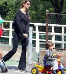 Gisele Bundchen and son Benjamin take a stroll in Boston, MA - June 9