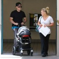 Hilary Duff and Mike Comrie with son baby Luca in Beverly Hills, CA - June 16