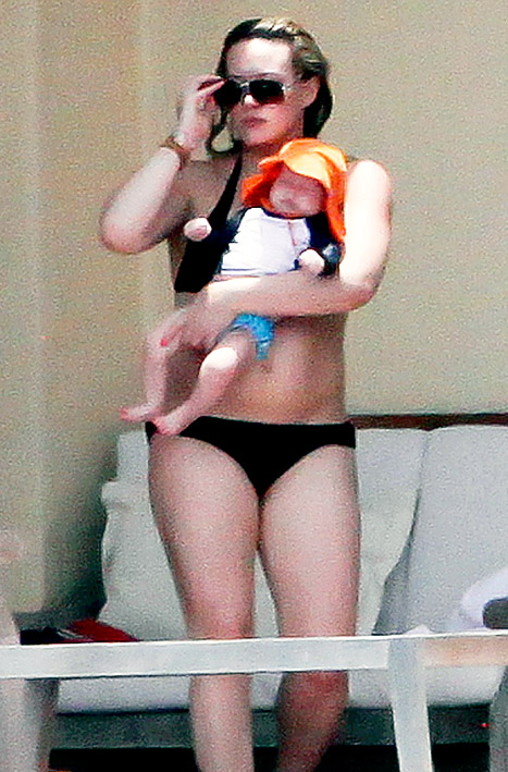 Hilary Duff Shows Off Post Baby Body