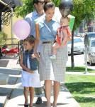 Jessica Alba, Cash Warren, Honor and Haven leaving Bel Bambini - June 23