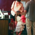 Date night at the movies for mom Katie Holmes and daughter Suri Cruise in New York, NY on June 23rd, 2012.