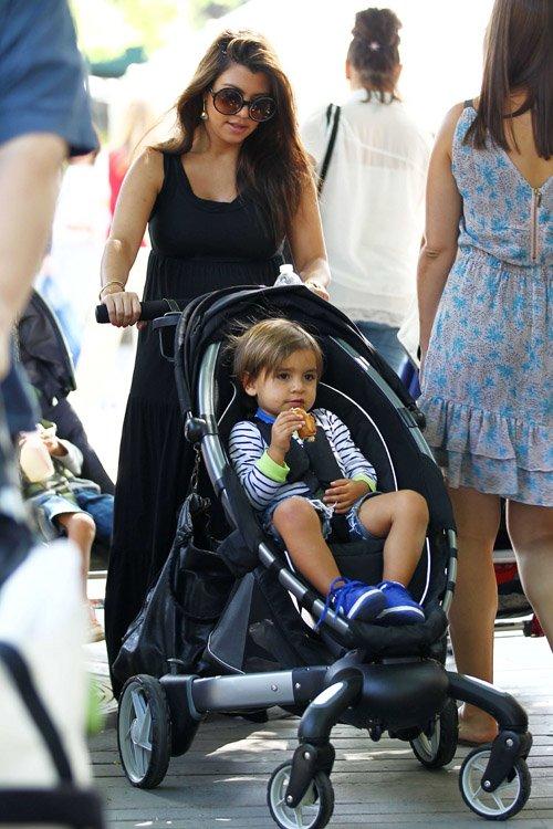Kourtney Kardashian and Mason at the Farmer's Market in Calabasas, CA – June 9