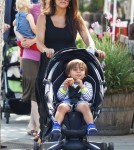 Kourtney Kardashian and Mason at the Farmer's Market in Calabasas, CA - June 9