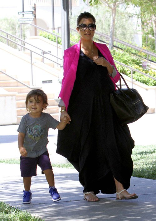 Kourtney Kardashian with son Mason Disick in Los Angeles, Ca - June 23