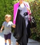 Kourtney Kardashian with son Mason Disick in Los Angeles, Ca - June 23