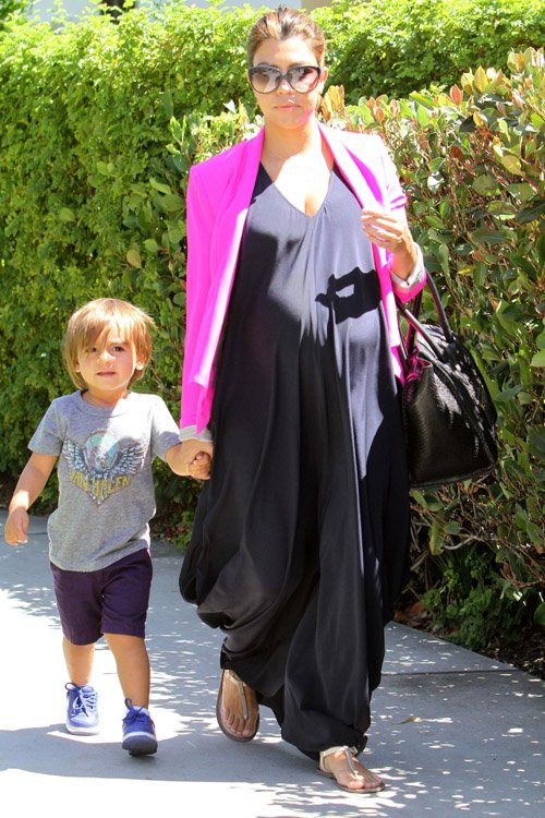 Kourtney Kardashian & Mason's Sunny Movie Day