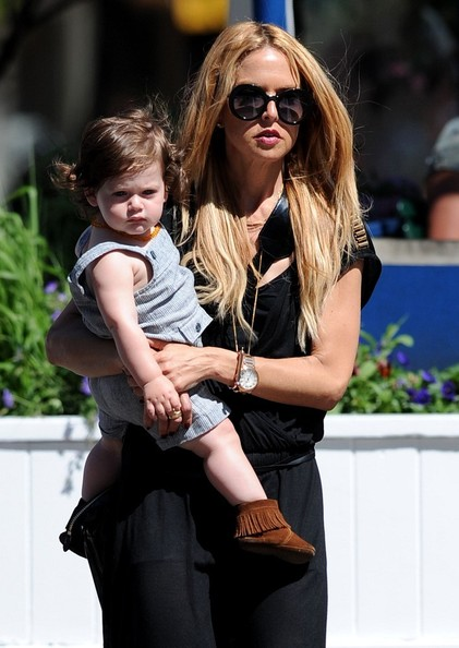 Rachel Zoe and husband Rodger Berman have lunch in Soho with their son, Skyler Morrison Berman