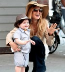 Rachel Zoe and son Skyler in NYC