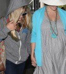 Reese Witherspoon and daughter Ava departing from LAX airport CA June 15