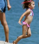 Alessandra Ambrosio Rocks The Beach With Her Model Daughter 0724