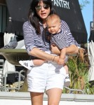 Selma Blair Matches With Son Arthur Bleick While Out At Lunch 0726