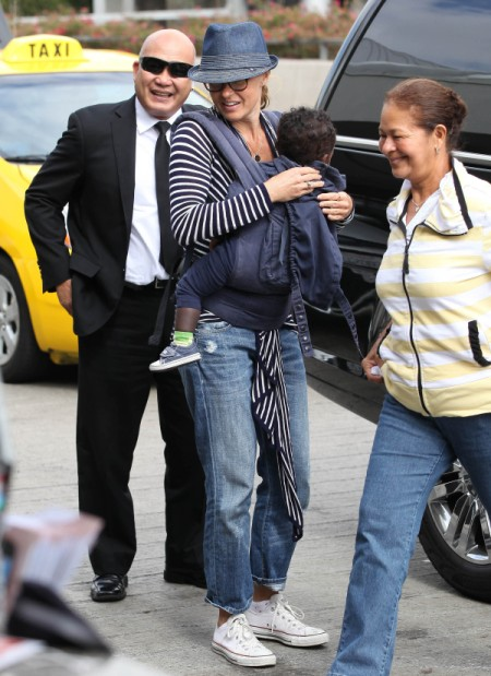Connie Britton Heads Out Of LA With Son Yoby Britton