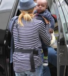 Connie Britton Heads Out Of LA With Son Yoby Britton 0717