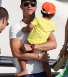 Soccer Star Cristiano Ronaldo Vacations With Son in St. Tropez 0704
