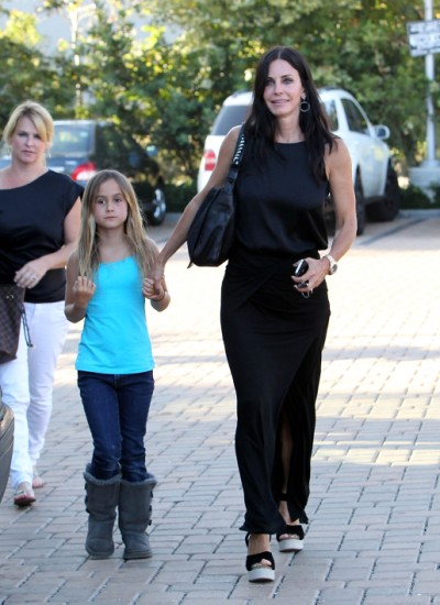 Courteney Cox Lunches With Daughter Coco Arquette in Malibu