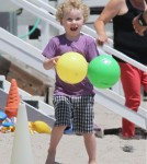 Minnie Driver Celebrates Son Henry Driver's Birthday At The Beach 0731