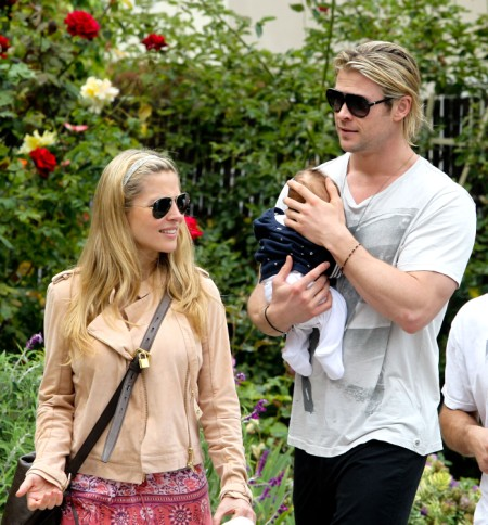 Chris Hemsworth Cradles India Hemsworth As Family Goes Out To Lunch