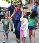 Katie Holmes And Suri Cruise Visit Alice's Tea Cup In NYC 0706