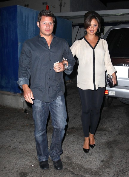 Nick Lachey and Vanessa Minnillo Leave Their Anniversary Dinner