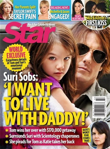 Eyewitness Details: Suri Cruise Wants To Live With Her Dad