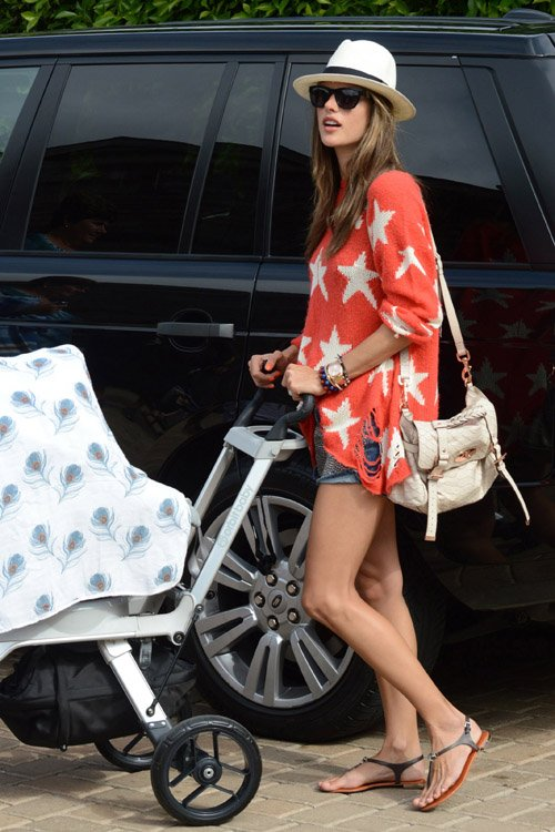 Alessandra Ambrosio with her fiance Jamie Mazur with Anja and Noah in Malibu, CA – July 4
