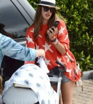 Alessandra Ambrosio with her fiance Jamie Mazur with Anja and Noah in Malibu, CA - July 4
