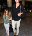 Courteney Cox and Coco Arquette arriving at LAX airport in Los Angeles, CA - June 30