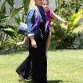 Actress Sarah Michelle Gellar and her daughter Charlotte visiting a friend in Beverly Hills, California on June 30, 2012.